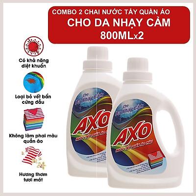 COMBO 2 Nước Tẩy Quần Áo Axo Hương Thanh Khiết 800ml X2