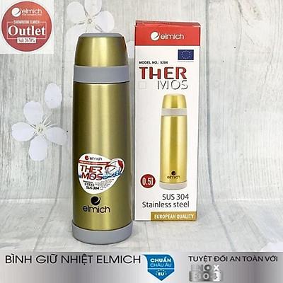 Bình giữ nhiệt thương hiệu Elmich - Hàng chính hãng tập đoàn Elmich Cộng hòa Séc - Dung tích: 500ml - Chất liệu: Inox 304- Thời gian giữ nhiệt: 8h-12h liên tục - Bảo hành 12 tháng  EL-5204