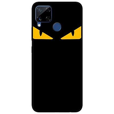 Ốp lưng dành cho Realme C15 mẫu Cặp Mắt Vàng Trên