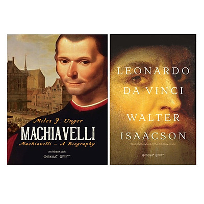 Combo Sách Danh Nhân Thế Giới: Machiavelli + Leonardo da Vinci Walter Isaacson