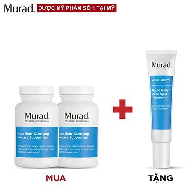 Mua 2 Viên uống Murad Pure Skin Clarifying Dietary Supplement 120 viên Tặng Rapid Relief Acne 15ml