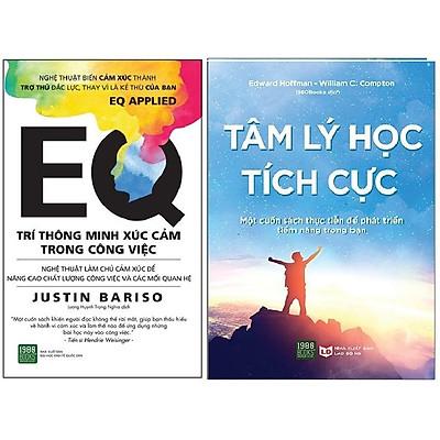 Sách - Combo 2 Cuốn Sách Tâm lý học tích cực, EQ - Trí Thông Minh Xúc Cảm Trong Công Việc ( Kèm sổ tay )