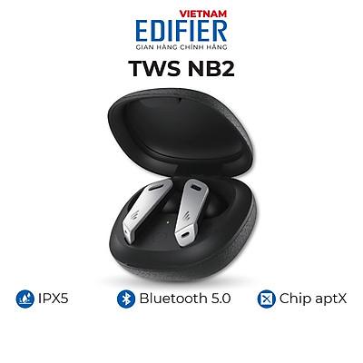 Tai nghe Bluetooth 5.0 EDIFIER TWS NB2 Âm thanh Stereo Chống nước IPX5 Có app điều chỉnh - Hàng chính hãng