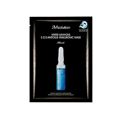 Mặt Nạ Cấp Nước Tức Thì JM Solution Water Luminous S.O.S Ampoule Hyaluronic Mask Black 30ml