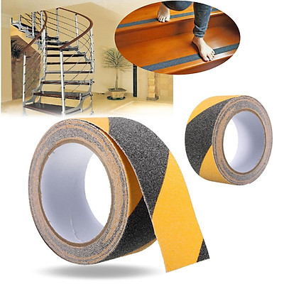 Black / Grey / White / Black and yellow -- 10CM * 1M Roll Safety Non Skid Tape Anti Slip Tape Sticker Grip