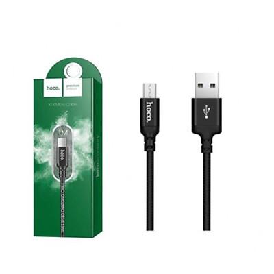 DÂY SẠC MICRO USB HOCO X14 2A 1M - CÁP SẠC NHANH BỌC DÙ CHỐNG ĐỨT GẬP CHO ANDROID SAMSUNG XIAOMI OPPO - GIAO MẪU NGẪU NHIÊN HÀNG CHÍNH HÃNG
