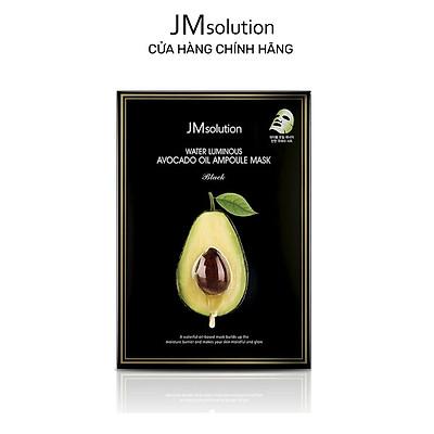 Mặt Nạ chiết xuất quả bơ Jmsolution Water Luminous Avocado Oil Ampoule Mask Black 35ml