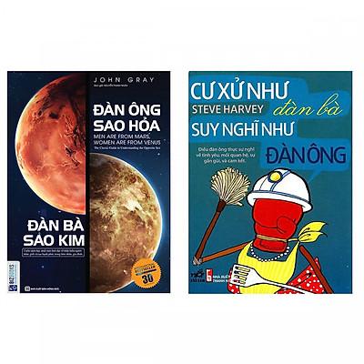 Combo Sách Hay: Đàn Ông Sao Hỏa Đàn Bà Sao Kim + Cư Xử Như Đàn Bà, Suy Nghĩ Như Đàn Ông - (Tặng Kèm Bookmark Thiết Kế)