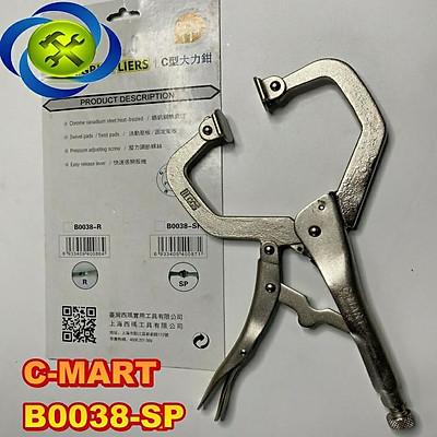 Kìm bấm chữ C C-Mart B0038-SP chiều dài 275mm có đế kẹp