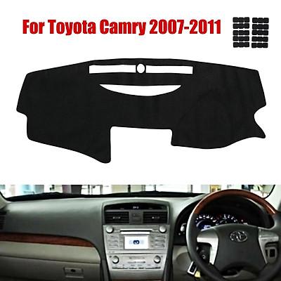 126x55cm Car Dashboard Cover Dash Black Mat Non slip Pad For Toyota Camry 2007- 2011