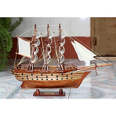 Mô hình thuyền buồm gỗ trang trí Napoleon thân tàu 40cm, trang trí nhà cửa - phòng khách - bàn làm việc, quà tặng tân gia - sinh nhật - khai trương