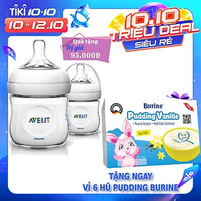 Bộ 2 Bình sữa mô phỏng tự nhiên hiệu Philips Avent (125 ml) cho trẻ từ 0 tháng tuổi 690.23