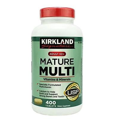 Viên uống Vitamin tổng hợp Kirkland Mature Multi Adult 50+ Hộp 400v của Mỹ dành cho nam, nữ trên 50 tuổi, Tăng cường miễn dịch, phòng các bệnh lây nhiễm, bệnh do virus, vi khuẩn