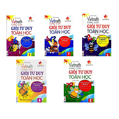 Combo 5 cuốn sách Vietmath cùng con giỏi tư duy toán học