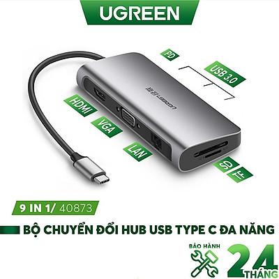 Bộ chuyển đổi đa năng UGREEN CM121 CM212 cho MacBook, Dell XPS 13, và thiết bị máy tính điện thoại hỗ trợ USB type C - Hàng chính hãng
