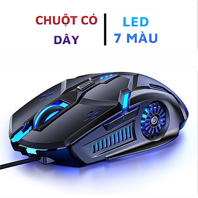 Chuột máy tính có dây G5, chuột gaming DPI 4 cấp độ, hiệu ứng đèn nền đổi 7 màu- Hàng chính hãng