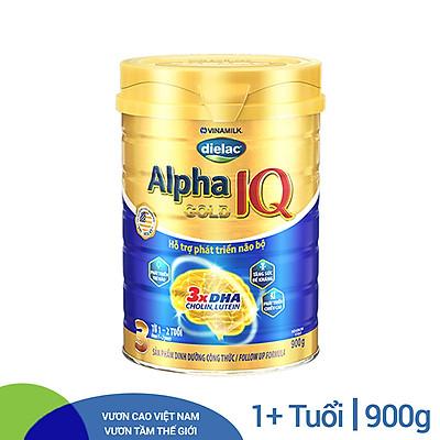Sữa Bột Vinamilk Dielac Alpha Gold IQ Step 3 - Hộp Thiếc 900g