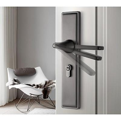 Bộ Khóa cửa tay nắm loại màu xám bo viền - COBE CX5012X