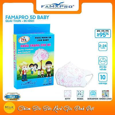 Khẩu Trang Y Tế Cao Cấp FAMAPRO - Hồng Kitty - 3 Lớp Kháng Khuẩn / 99% Lọc Khuẩn, Bụi, Virus Tốt Nhất / Trẻ Em - [ CB3 - 5D BABY - HỘP ]
