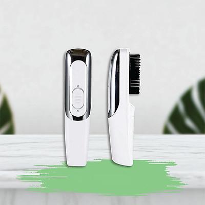 Lược Máy Chải Tóc Tia Hồng Ngoại Massage Da Đầu - Kích thích tóc mọc, giảm stress cho da đầu