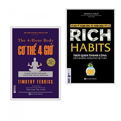 Combo 2 cuốn sách hay nhất về kĩ năng sống: Cơ thể 4 giờ + Rich Habits - Thói Quen Thành Công Của Những Triệu Phú Tự Thân ( Tặng kèm Bookmark Happy Life)