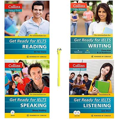 Combo Collins - Get Ready For IELTS : Reading, Writing, Speaking, Listening (Kèm 2 CD) (Tặng Kèm Viết)