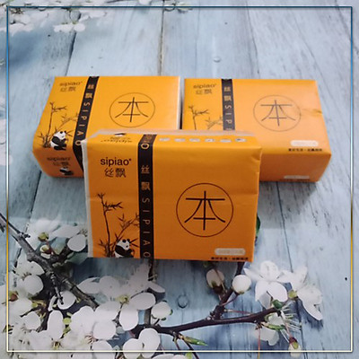 Set 5 hộp khăn giấy gấu trúc sợi tre siêu  dai - chưa qua khử hóa chất an toàn với sức khỏe