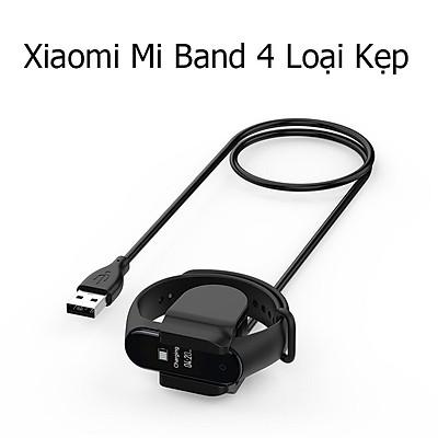 Dây Cáp Sạc Thay Thế Dành Cho Vòng Đeo Tay Thông Minh Xiaomi Mi Band 4 Loại Kẹp Không Cần Tháo Dây Đeo Dài 30cm