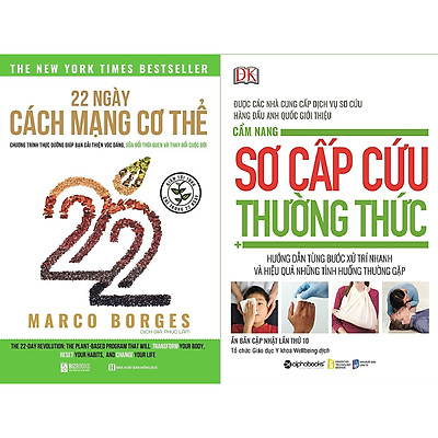 Combo 2 Cuốn Sách Y Học Và Sức Khỏe Cần Có Trong Tủ Thuốc Của Mọi Nhà ( 22 Ngày Cách Mạng Cơ Thể + Cẩm Nang Sơ Cấp Cứu Thường Thức ) tặng kèm bookmark Sáng Tạo