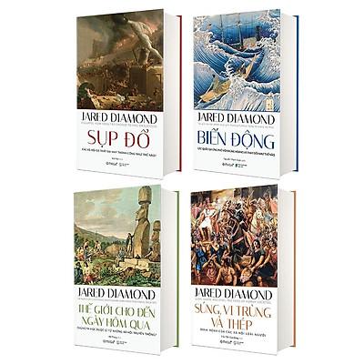 Sách - ( Combo 4 cuốn ) - Jared Diamond (Lịch sử nhân loại)