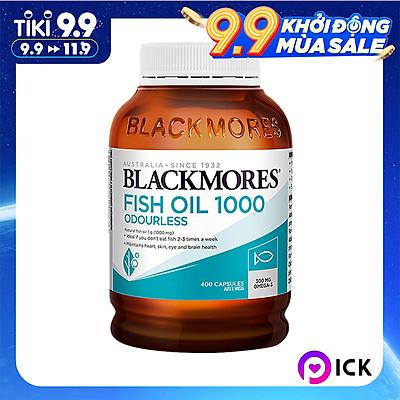 Dầu Cá Blackmores Fish Oil Odourless - 400 viên (Hàng Nhập Khẩu Từ Úc)