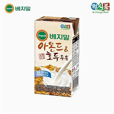 Sữa đậu nành óc chó hạnh nhân Vegemil Hàn Quốc - Xách 16 hộp (190ml/Hộp)