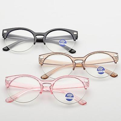 Children Spectacles Metal Semi-rimless Eyeglasses Boys Girls Anti Blue Light Clear Lens