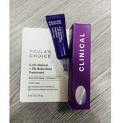 Paula's Choice Clinical 0.3% Retinol + 2% Bakuchiol Treatment -- Tinh Chất Hỗ Trợ Giảm Nếp Nhăn, Chống Lão Hóa (5ml)