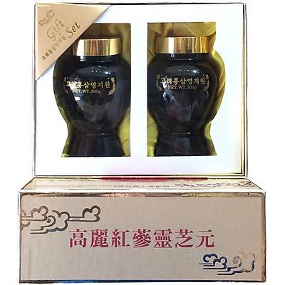 Thực phẩm bảo vệ sức khỏe cao hồng sâm linh chi Hàn Quốc 600gr-Korean Red Ginseng Youngji Mushroom Extract Gold