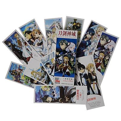 Hộp 36 Bookmark Đánh Dấu Sách Sword Art Online