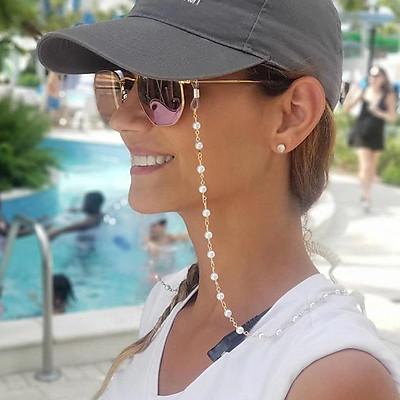 Fashion Chain Imitation Pearl Shiny Neck Wear Anti-skid Glasses Chain Sunglasses Accessories Anti-loss Cord
