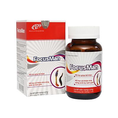Bổ thận nam Focusman - Bổ thận tráng dương, tăng cường sinh lý nam, tăng testoteron nam, hỗ trợ điều trị rối loạn cương dương, xuất tinh sớm