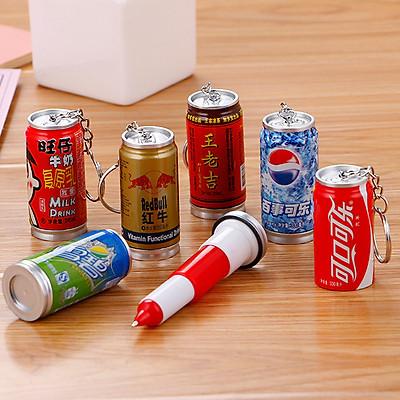 Combo 5 Bút viết bi kiểu lon nước ngọt Redbull Coca Sprite độc đáo