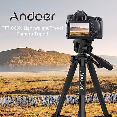 Chân Máy Ảnh Du Lịch Hỗ Trợ Quay Phim Andoer TTT-663N Cho Máy DSLR 57.5 inch (Tải Trọng 3kg)