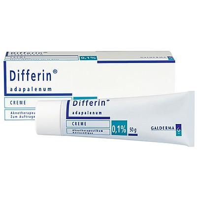 Kem giảm mụn Differin Cream 0.1% Adapalene tuýp 30 gram
