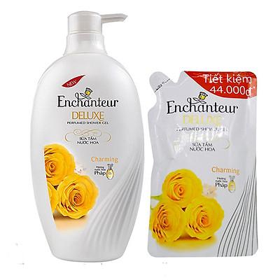 Sữa tắm nước hoa Enchanteur Charming 900ml+Tặng túi sữa tắm Enchanteur 450ml