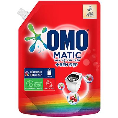 Nước giặt OMO Matic Bền đẹp cho máy giặt cửa trên, bền màu sau 100 lần giặt, túi 2.0kg