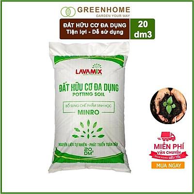 20dm3 (9-10kg) Đất Sạch Hữu cơ Đa dụng Trồng Rau, Hoa Kiểng Lavamix Tiện Lợi, Dễ Sử Dụng