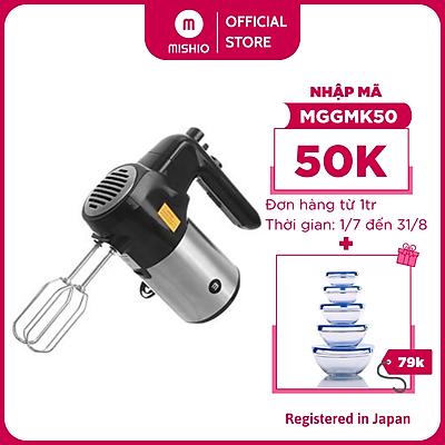 Máy đánh trứng Mishio MK215 300W - 5 tốc độ, đi kèm que đánh bột và đánh trứng - Hàng chính hãng