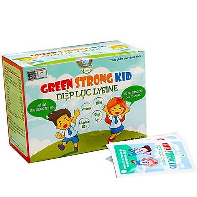 Diệp Lục Lysine Green Strong Kid (hộp 20 gói) - Bổ Sung Chất Xơ Từ Rau Xanh Giúp Bé Ăn Ngon, Hết Táo Bón