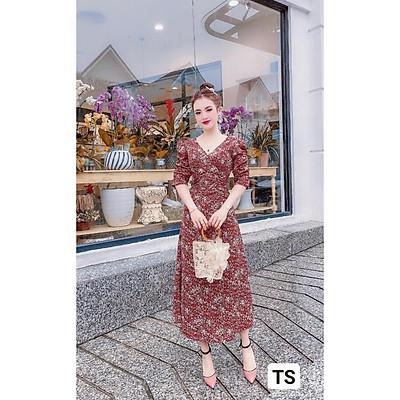 Váy Thiết Kế hoa nhí dáng suông, váy suông hoa nhí dài 4 màu xinh xắn - H&N Store