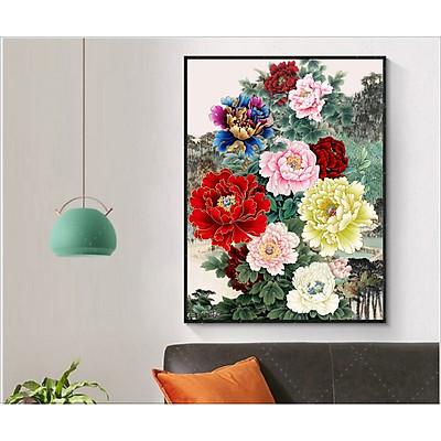 Tranh canvas  - Hoa Mẫu Đơn- Tranh Đẹp Trang Trí