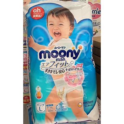 Tã quần Moony size L 44 + 6 (50 miếng)
