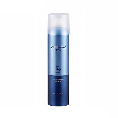 Xịt Chống Nắng Wellderma G Plus Cooling Sun Spray SPF 50PA+++ 180ml